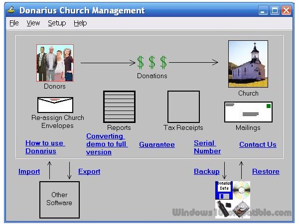 Donarius church management software 4. 151 free download.